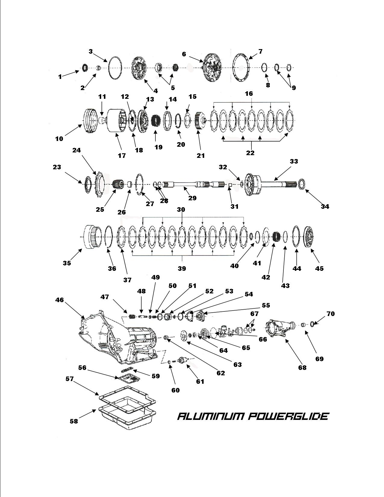 power glide transmission exploded view